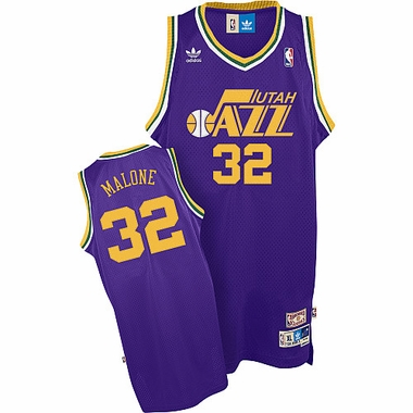 Utah Jazz Karl Malone Team Color Throwback Replica Premiere Jersey