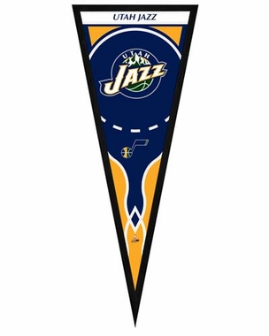 "Utah Jazz Pennant Frame -13"" x 33"" (No Glass)"