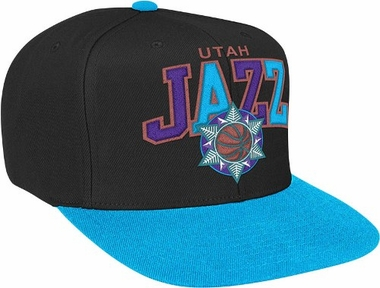 Utah Jazz Throwback Tri-Pop Snap Back Hat