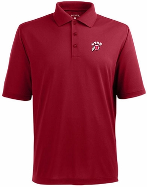 Utah Mens Pique Xtra Lite Polo Shirt (Color: Red)