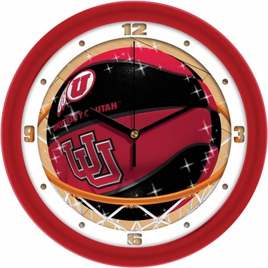 Utah Slam Dunk Wall Clock