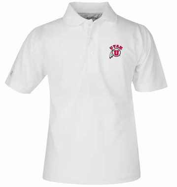 Utah YOUTH Unisex Pique Polo Shirt (Color: White)