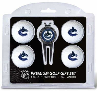 Vancouver Canucks 4 Ball and Divot Tool Set