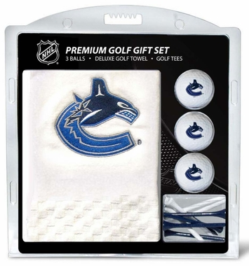 Vancouver Canucks Embroidered Towel Golf Gift Set