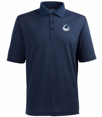 Vancouver Canucks Mens Pique Xtra Lite Polo Shirt (Color: Navy)