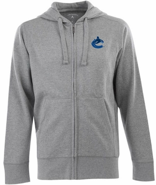 Vancouver Canucks Mens Signature Full Zip Hooded Sweatshirt (Color: Gray)