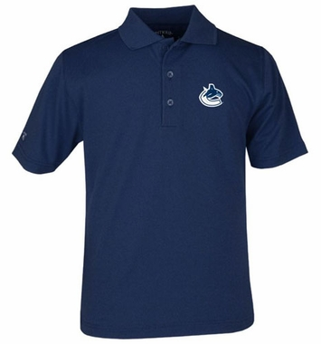 Vancouver Canucks YOUTH Unisex Pique Polo Shirt (Color: Navy)
