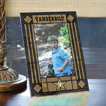 Vanderbilt Portrait Art Glass Picture Frame