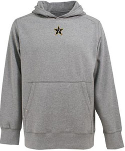 Vanderbilt Mens Signature Hooded Sweatshirt (Color: Silver) - XX-Large