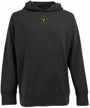 Vanderbilt Mens Signature Hooded Sweatshirt (Color: Black)