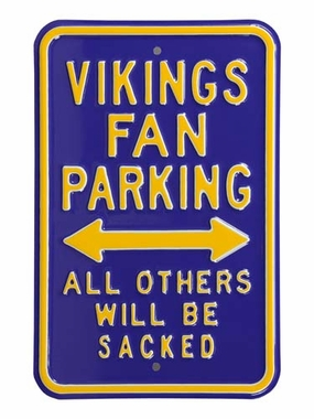 Vikings/Sacked Parking Sign