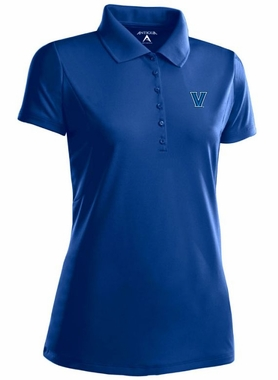 Villanova Womens Pique Xtra Lite Polo Shirt (Color: Blue)