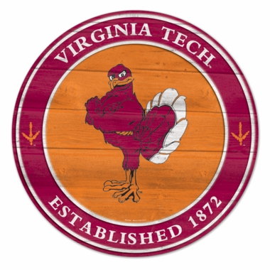 Virginia Tech 19.75 Inch Wood Sign