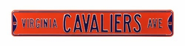 Virginia Cavaliers Ave Street Sign