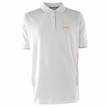 Virginia Mens Elite Polo Shirt (Color: White)