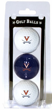 Virginia Set of 3 Multicolor Golf Balls