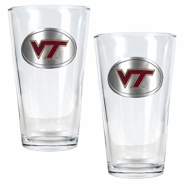 Virginia Tech 2 Piece Pint Glass Set