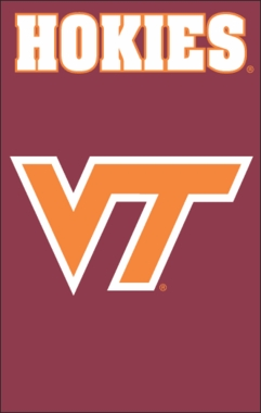 Virginia Tech Applique Banner Flag