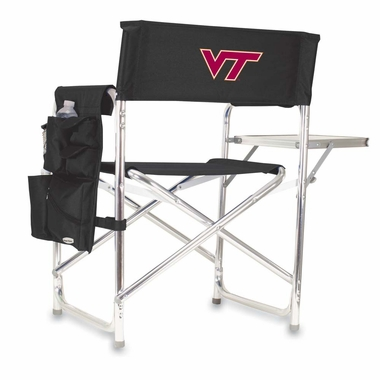 Virginia Tech Embroidered Sports Chair (Black)