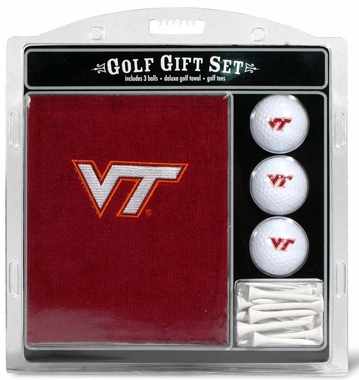 Virginia Tech Embroidered Towel Golf Gift Set