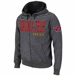 Virginia Tech Hero Full Zip Hooded Jacket - Medium