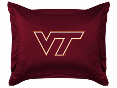 Virginia Tech Jersey Material Pillow Sham