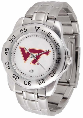 Virginia Tech Sport Men's Steel Band Watch