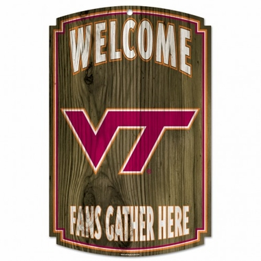 Virginia Tech Hokies Wood Sign - 11x17