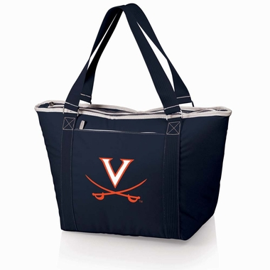 Virginia Topanga Embroidered Cooler Bag (Navy)