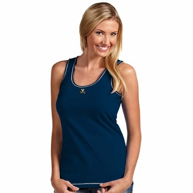 Virginia Womens Sport Fashion Tank Top (Color: Navy)