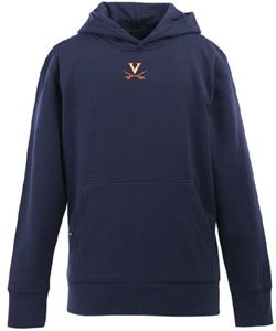 Virginia YOUTH Boys Signature Hooded Sweatshirt (Color: Navy) - Large