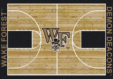 "Wake Forest 7'8"" x 10'9"" Premium Court Rug"