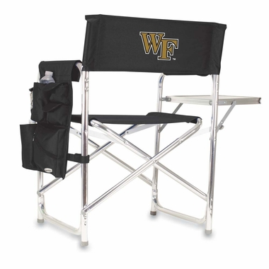 Wake Forest Embroidered Sports Chair (Black)