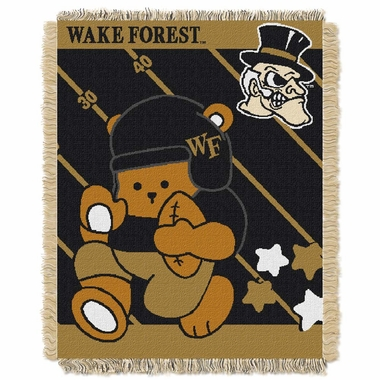 Wake Forest Jacquard BABY Throw Blanket