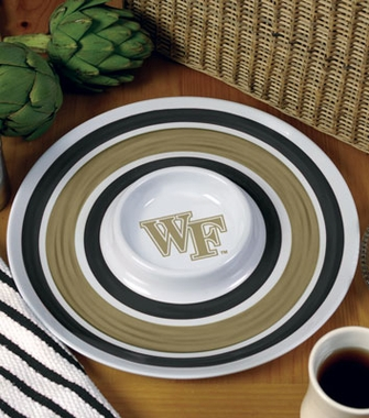 Wake Forest Plastic Chip and Dip Plate