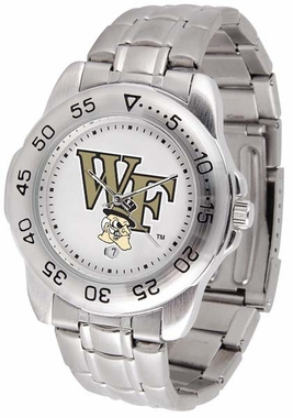 Wake Forest Sport Men's Steel Band Watch