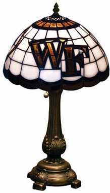 Wake Forest Stained Glass Table Lamp