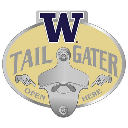 washington bottle opener hitch cover. Black Bedroom Furniture Sets. Home Design Ideas