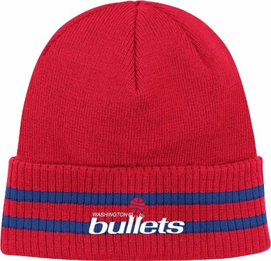 Washington Bullets Mitchell & Ness NBA Vintage Stockey Stripe Cuffed Knit Hat