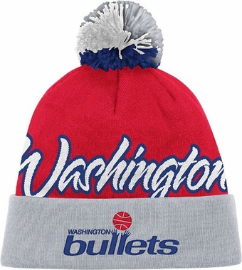 Washington Bullets National City Vintage Cuffed Pom Hat