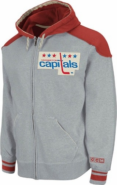 Washington Capitals CCM Vintage Classic Fleece Full Zip Sweatshirt