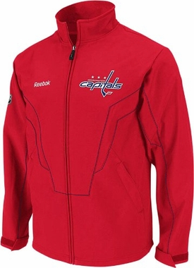 Washington Capitals Center Ice Softshell Full Zip Premium Jacket