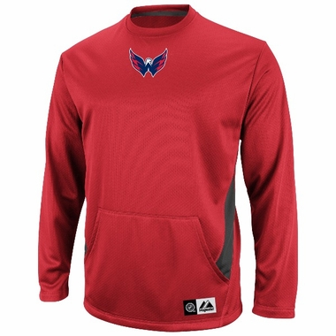 "Washington Capitals Majestic NHL ""Checking from Behind"" Performance Crew Sweatshirt"