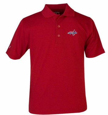 Washington Capitals YOUTH Unisex Pique Polo Shirt (Color: Red)