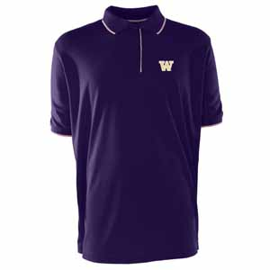 Washington Mens Elite Polo Shirt (Color: Purple) - Small