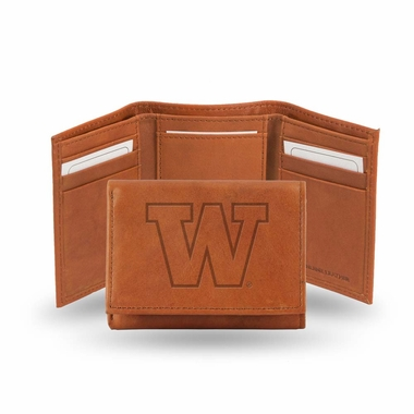 Washington Embossed Leather Trifold Wallet