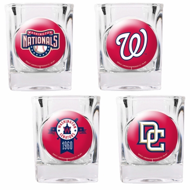 Washington Nationals 4 Piece Assorted Shot Glass Set