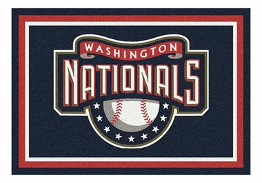 "Washington Nationals 5'4"" x 7'8"" Premium Spirit Rug"