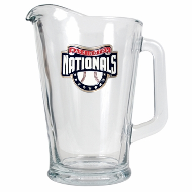 Washington Nationals 60 oz Glass Pitcher