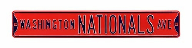 Washington Nationals Ave Red Street Sign